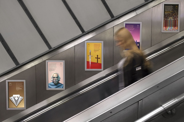 Posters on the London Underground