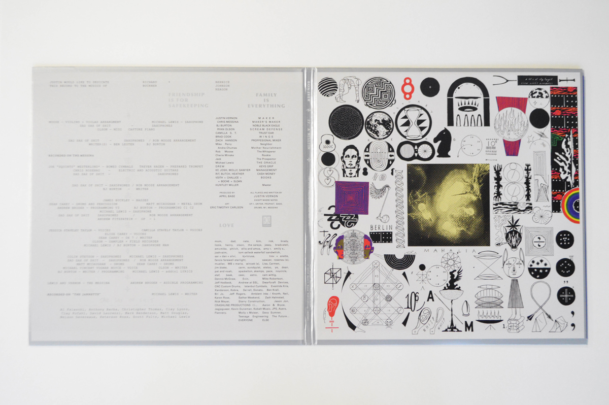Bon Iver, 22 A Million. Label: Jagjaguwar