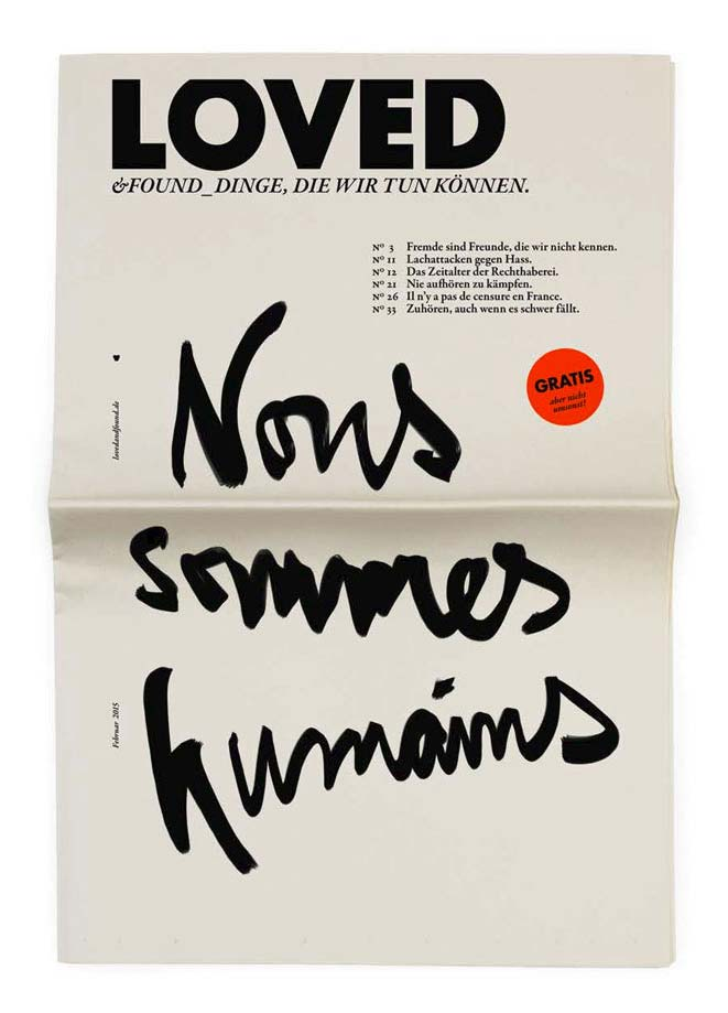Cover of Loved & found: Nous Sommes Humains