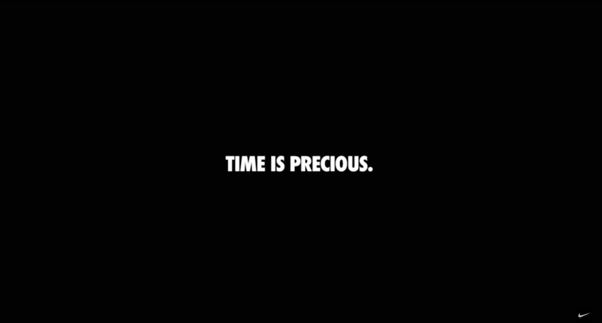 Nike Time is Precious ad