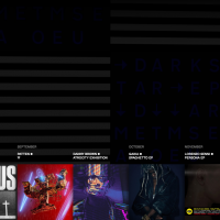 Warp's 2016 site. Users can scroll through a timeline of album releases and click on an album cover to find out more about it