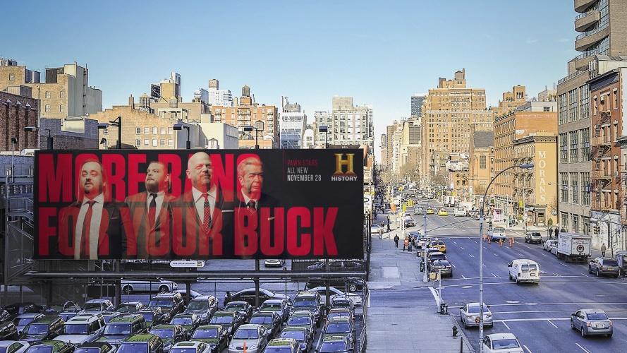 History billboards designed by DixonBaxi