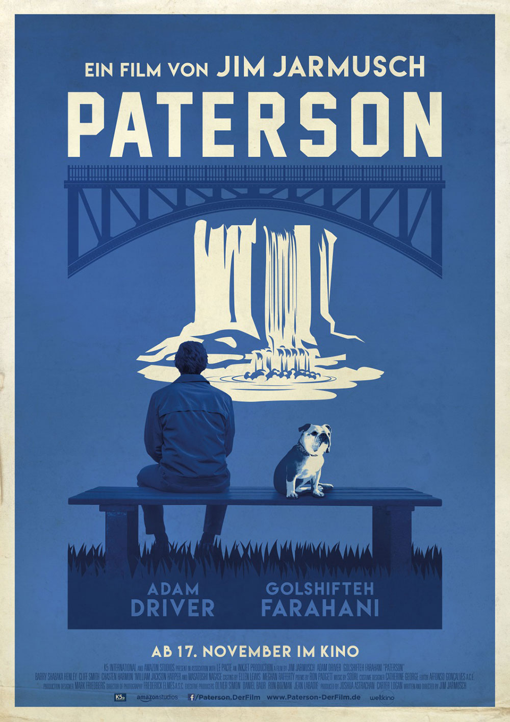 German poster for Jim Jarmusch's Paterson. Designer unknown