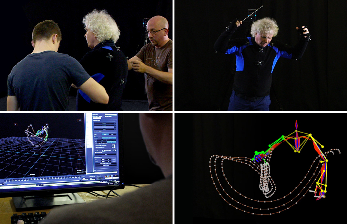 Motion capture with Sir Simon Rattle