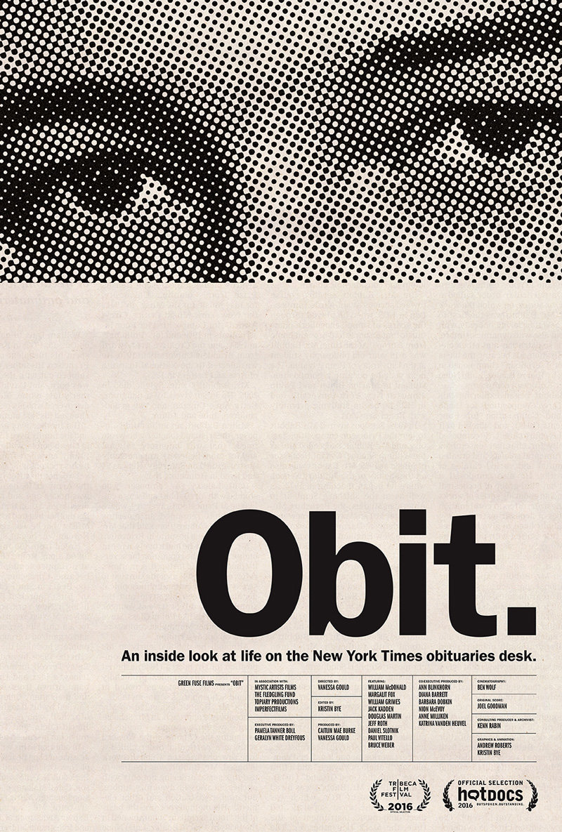 Poster design documentary - Obit Poster Designed By Kristin Bye