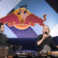 Joan La Barbara lectures at Red Bull Music Academy Montreal. Image: Maria Jose Govea / Red Bull Content Pool