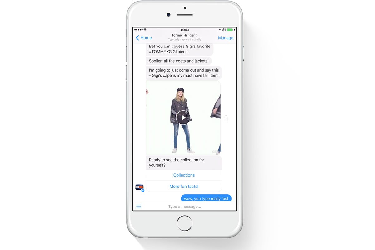 Tommy Hilfiger's Tmy.Girl chatbot