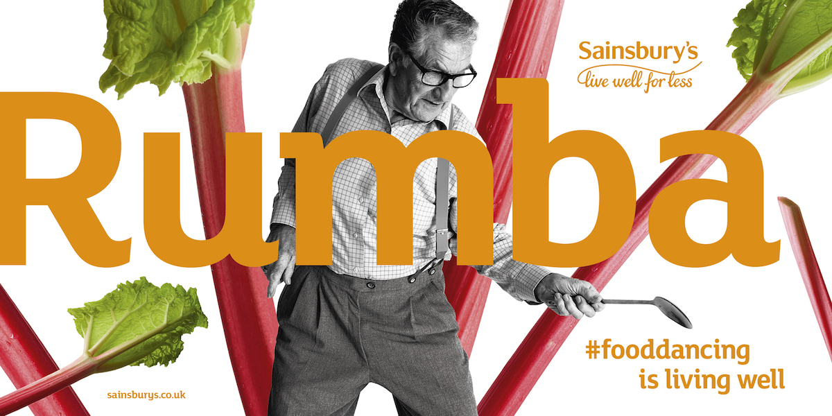 Sainsbury's food dancing ad