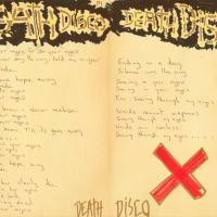 Death Disco spread from the book