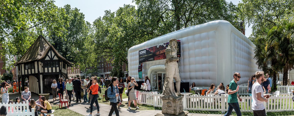 SohoCreate 2016's pop-up venues in Soho Square