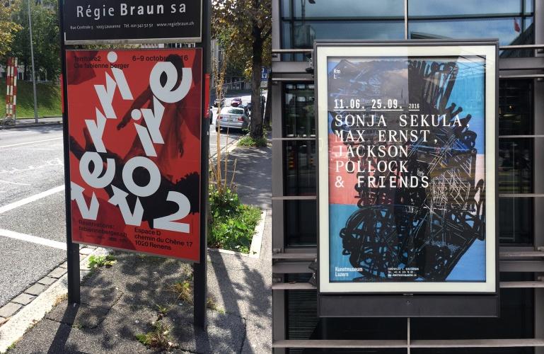 Poster by Raphael Verona (left) and Emmanuel Rey (right). Image ©Dennis Moya