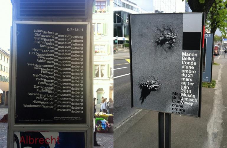 Poster by Bänziger Hüg (left) and Gavillet & Rust (right). Image ©Dennis Moya