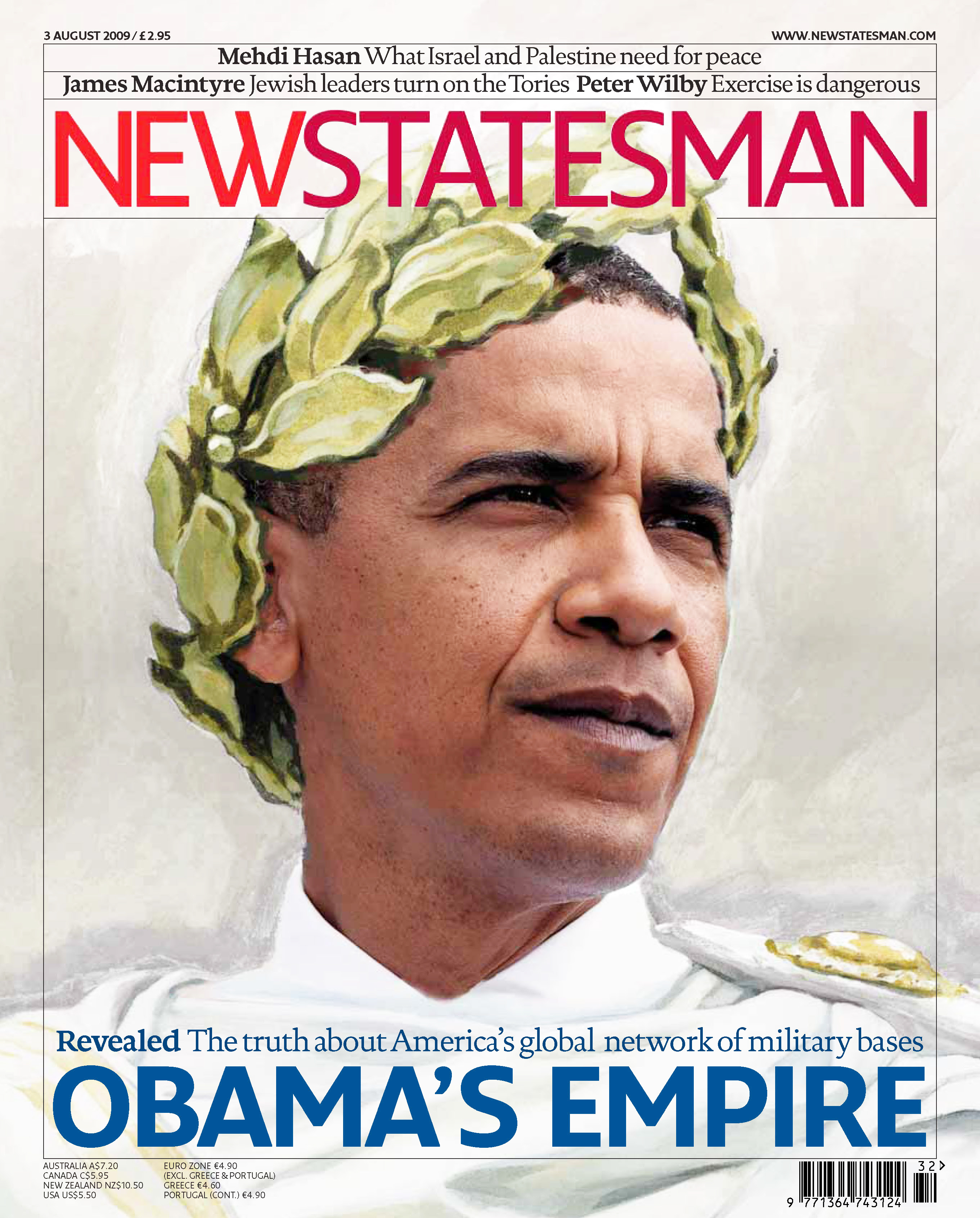 New Statesman's 3 August 2009 cover likens Obama to Julius Caesar