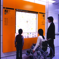 Fukuoka City Subway, designed by Toshimitsu Sadamura, set a new standard in universal design when it opened in 2005. Its spaces and services are wheelchair-friendly and each station on the system has its own colour, wall material and unique symbol, making them easier to identify for people with cognitive impairments (and also for foreign visitors)