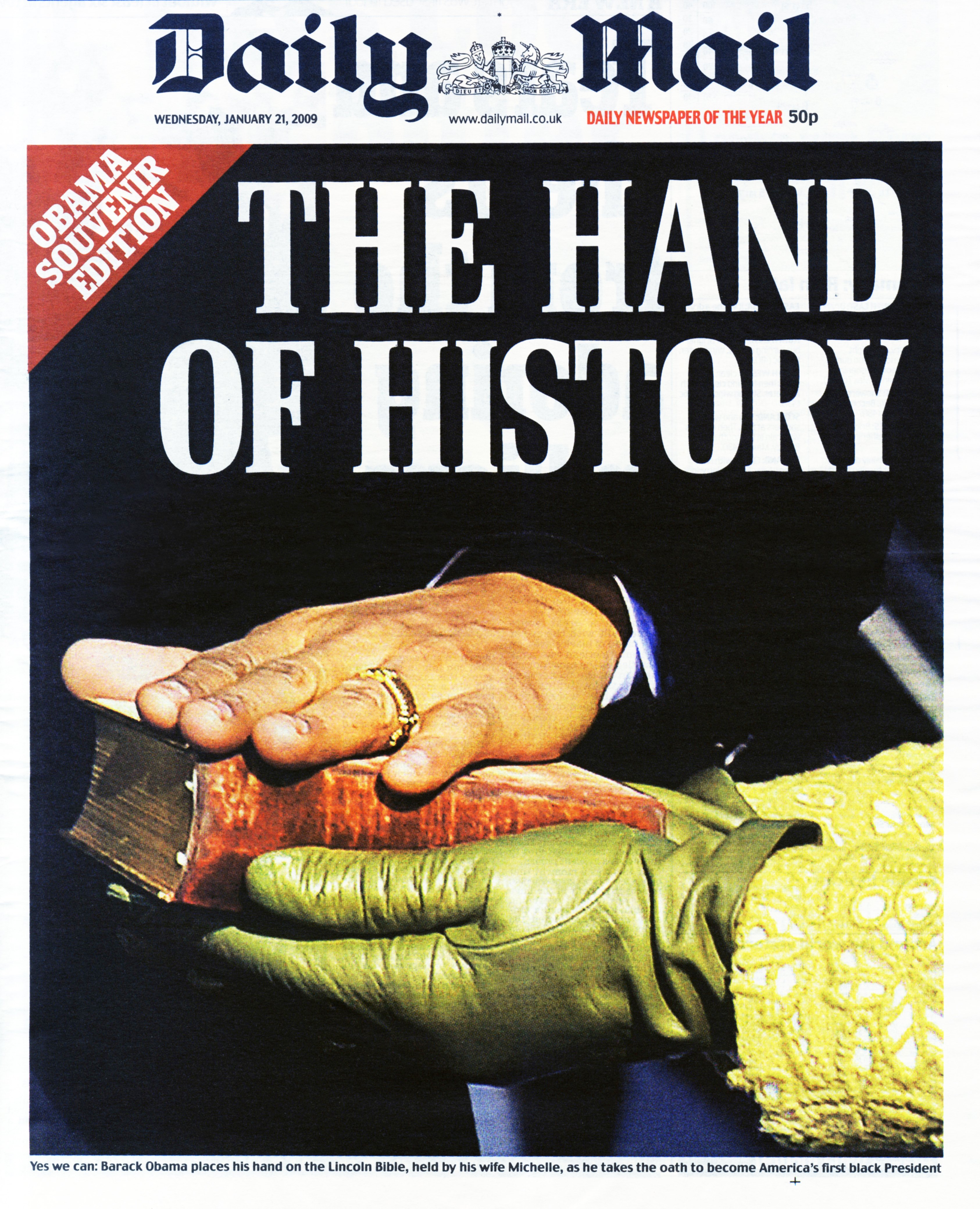 Cover of The Daily Mail's January 21, 2016 issue