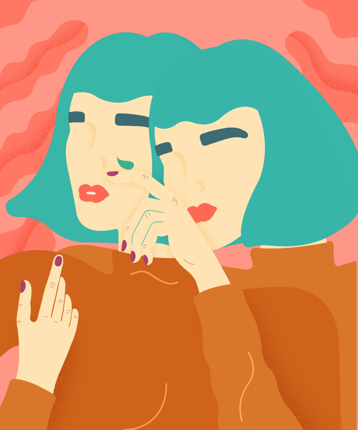 Illustration from a series focused on mental health, depression and anxiety for Refinery29