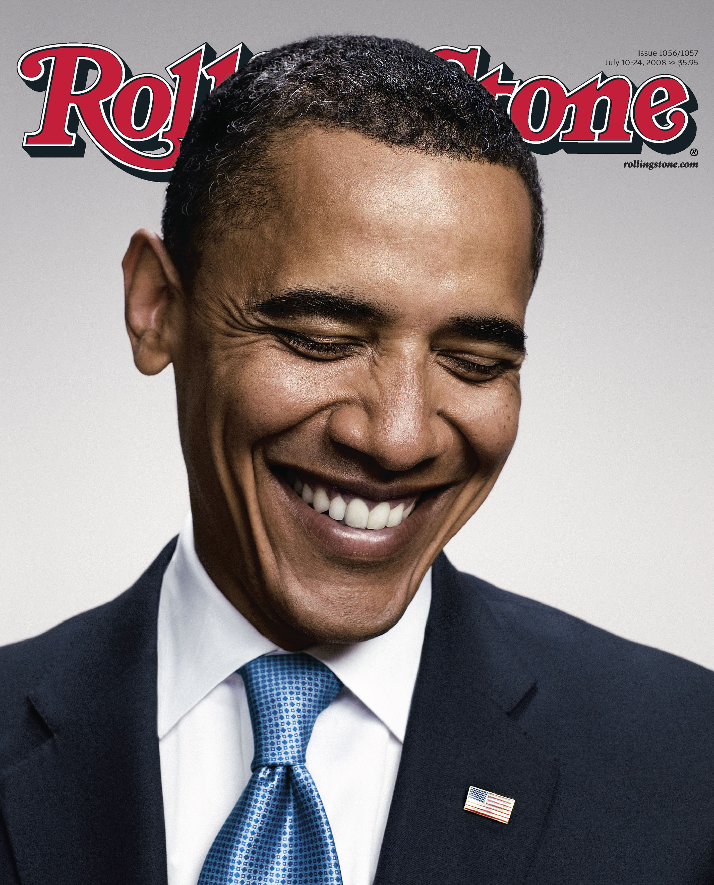 Rolling Stone's July 2008 cover featuring Barack Obama