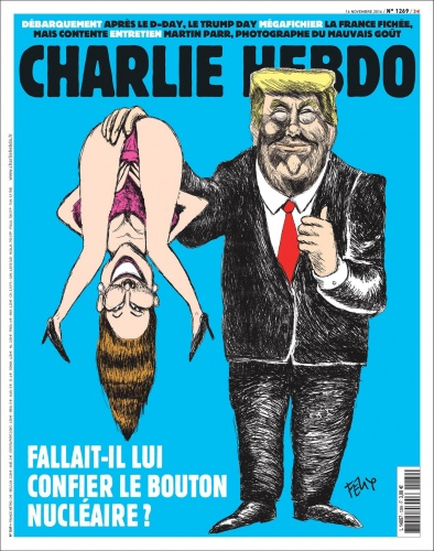 Charlie Hebdo's shocking cover from November 2016. Image via Charlie Hebdo