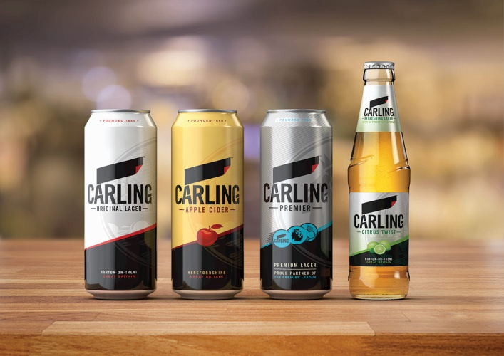 Carling packaging Brand Opus