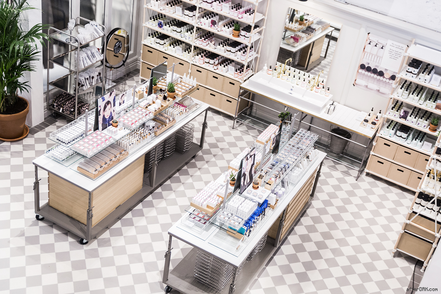 The beauty section of & Other Stories Amsterdam