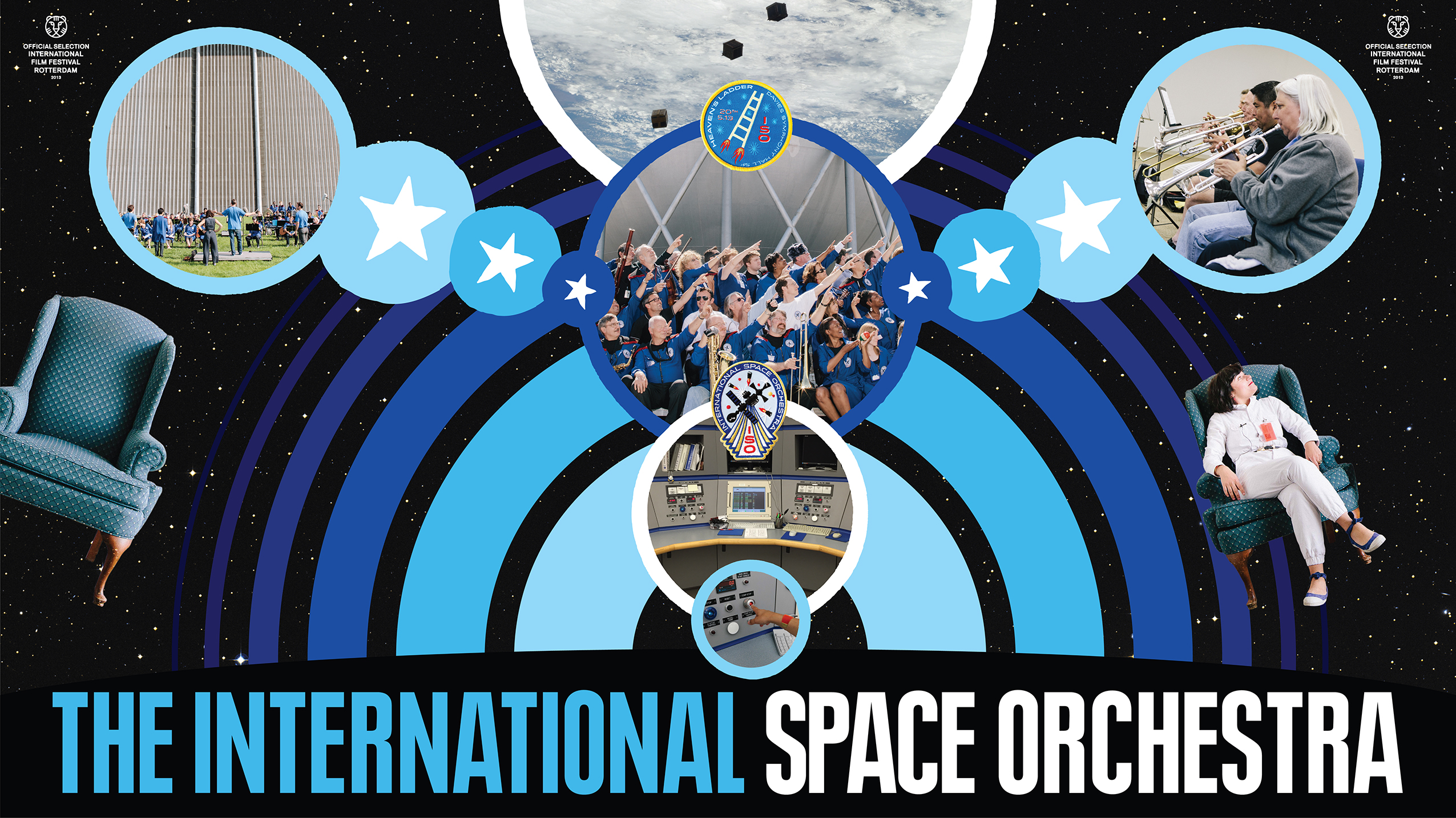 International Space Orchestra poster designed by Our Machine.