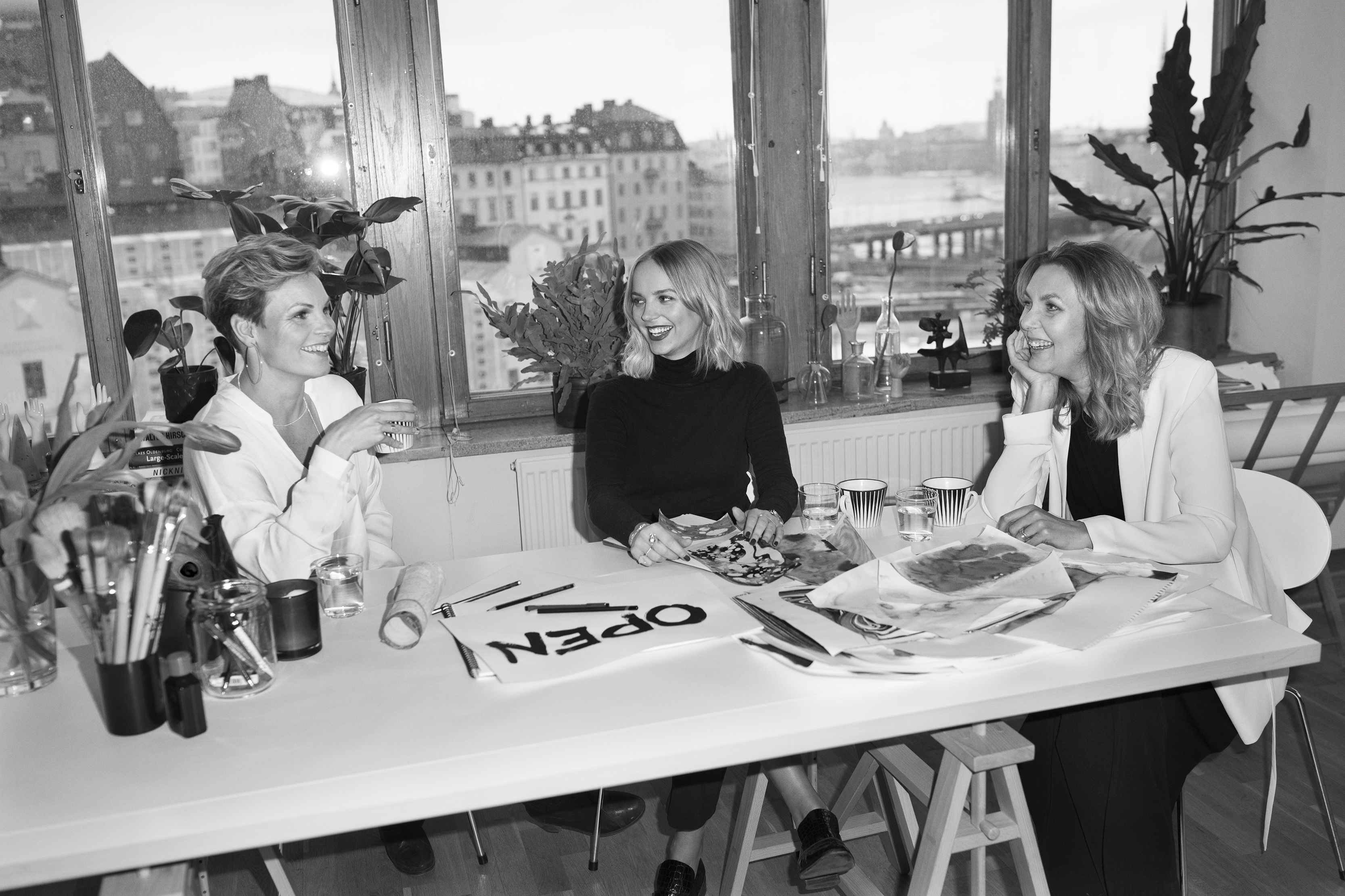 (l-r): Open founders Eva Aggerborg, Helena Carlberg and Sara Hilden-Bengtsson