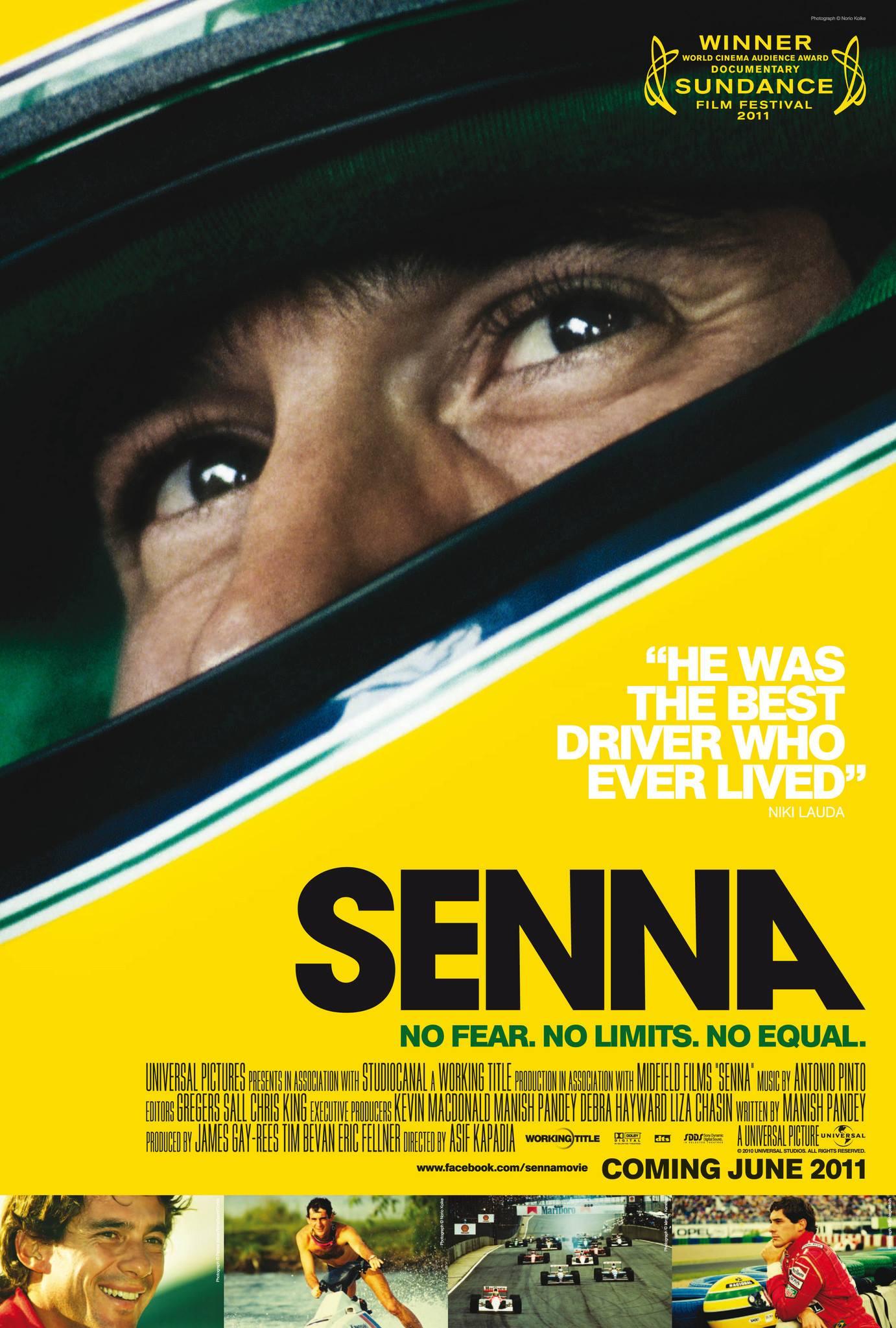 Senna film poster, designed by Creative Partnership
