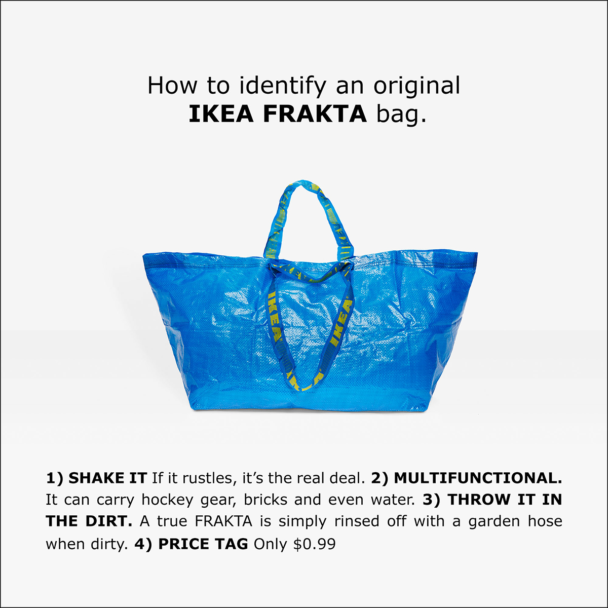 Ikea responds to Balenciaga's extra-large tote bag with joke ad