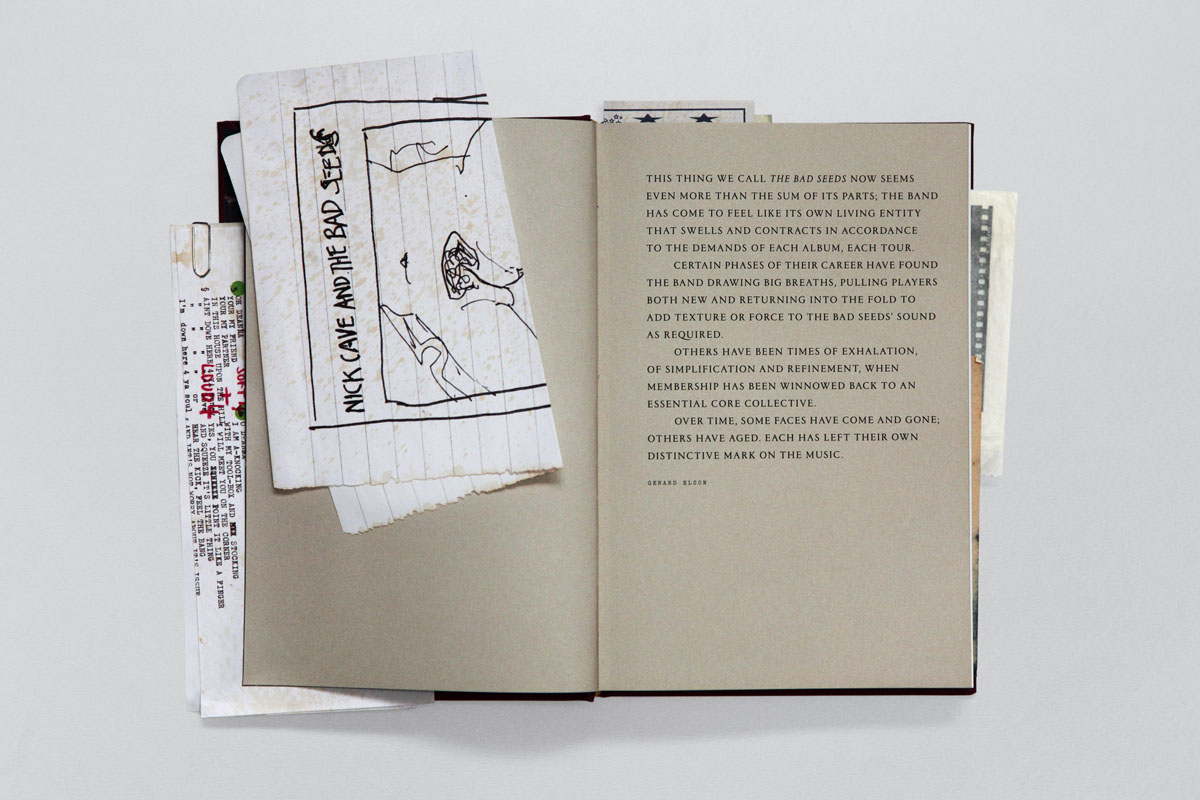 The book contains reprints of drawings by Cave and is laid out like a novel