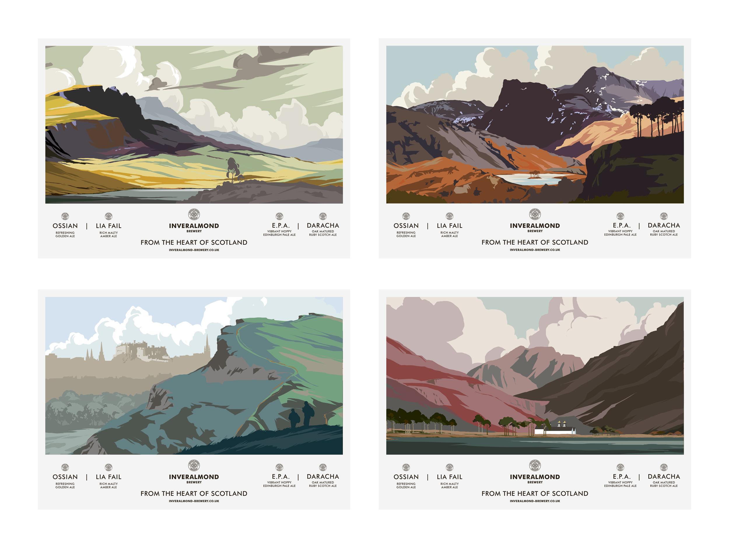 Postcards for Inveralmond featuring McDermott's artwork