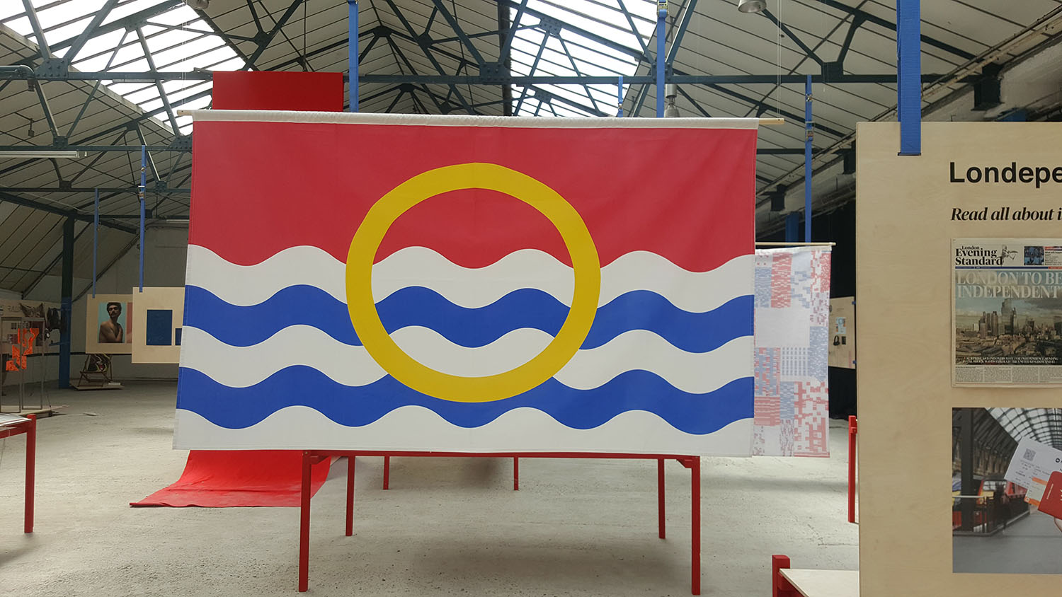 An Imagined Flag For Independent London Designed By Ruth Gardiner Kingston Universitys Graphic Design Degree