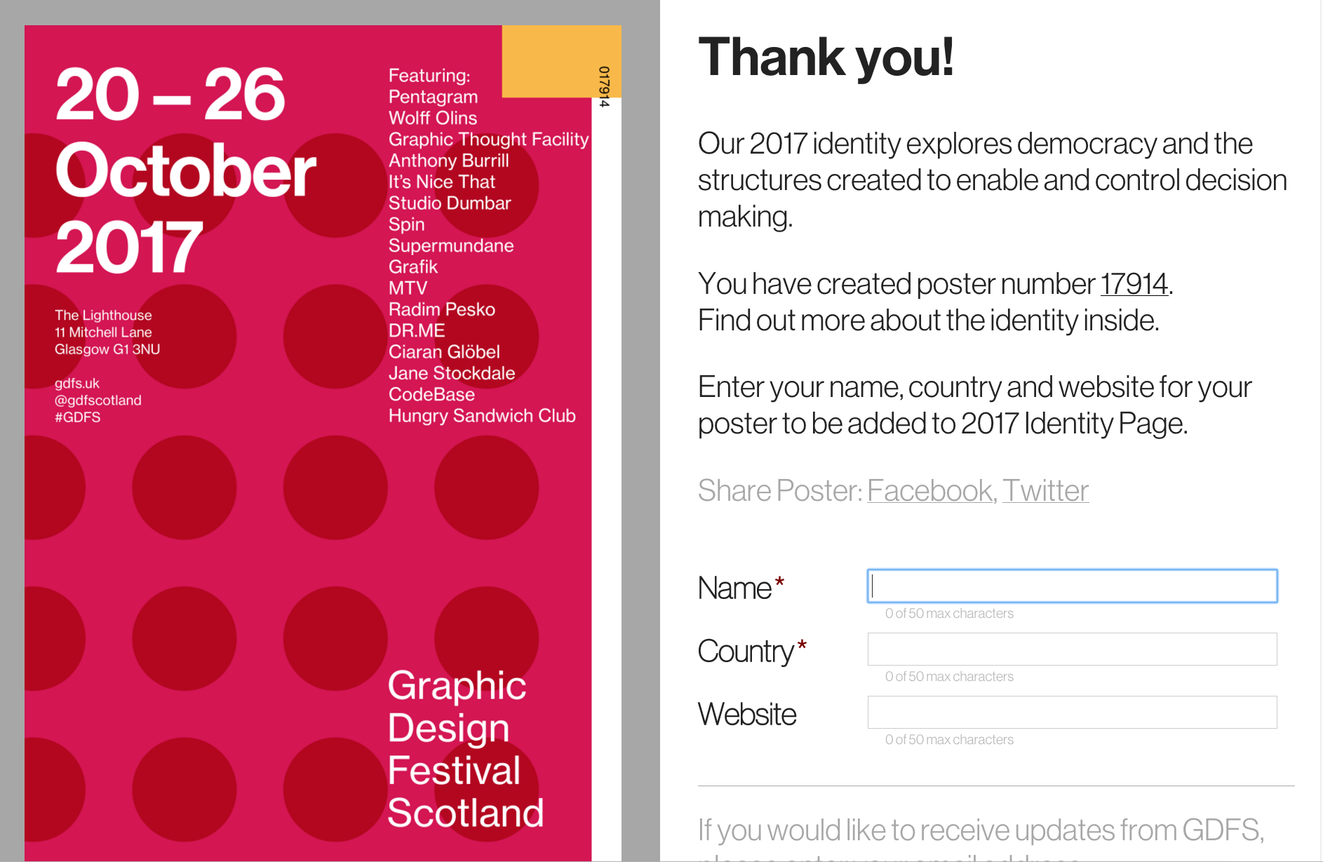 Poster design generator - The Gdfs Website A Poster Generator Tool Allows You To Create A Poster For Gdfs By Making A Series Of Snap Decisions