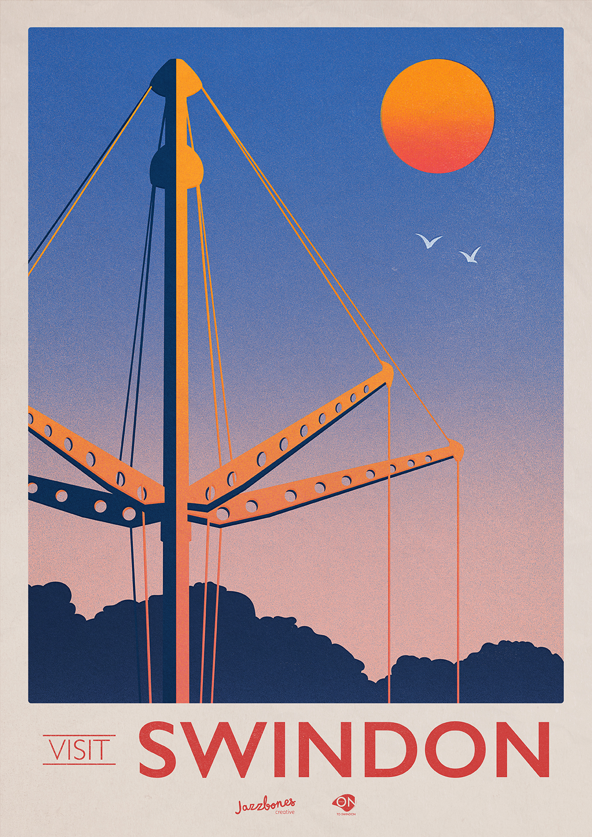 30s poster design - Whimsical Poster Series Uses 1930s Style Design To Change Perceptions Of Swindon