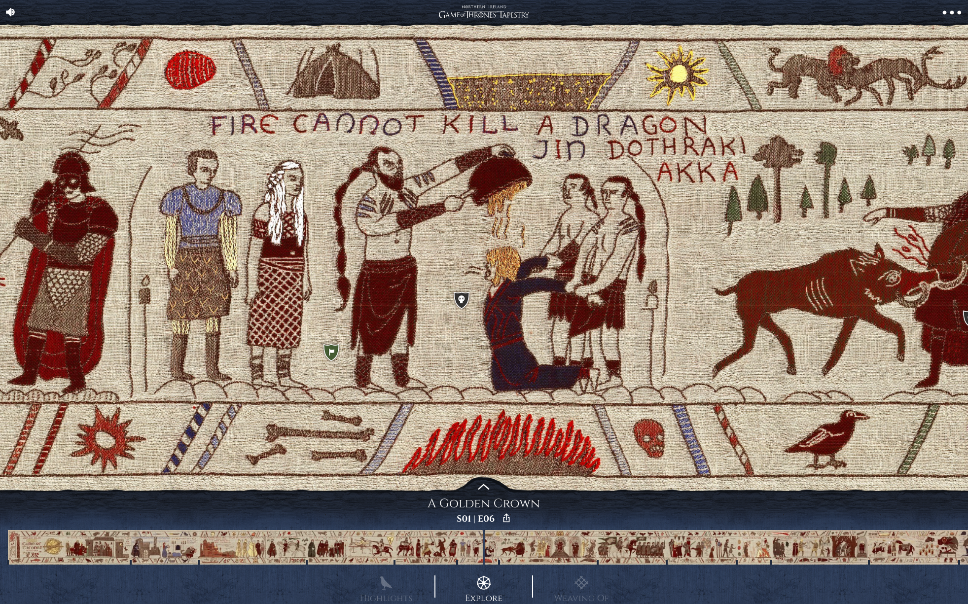 Game of Thrones tapestry tells the story of season 7