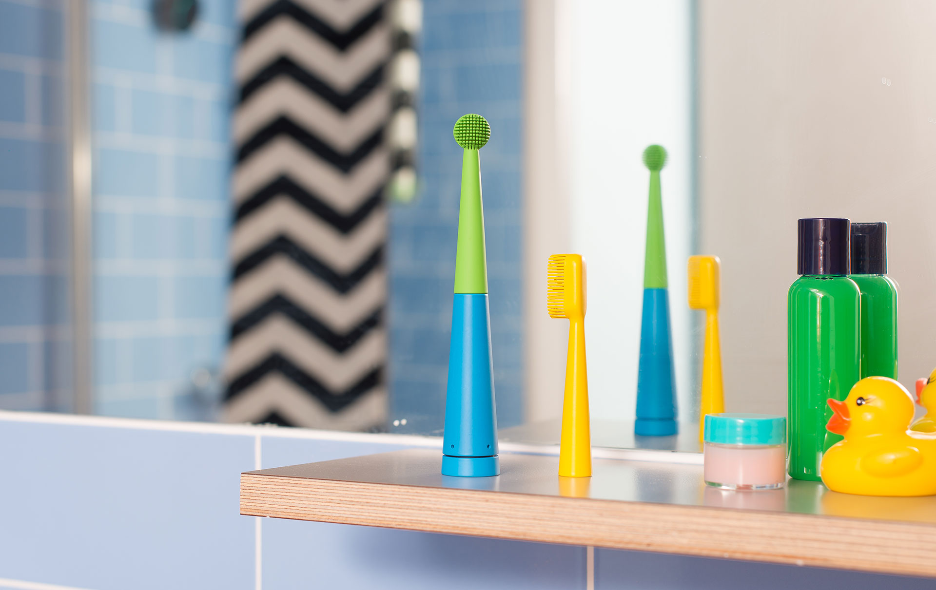 Benjamin Brush, a smart toothbrush that can play two minutes of music to accompany teeth cleaning, will be the next Bleep Bleeps product to launch. The brush syncs with an app which displays prompts, brush times and messages of encouragement. Photos: Garry Maclennan