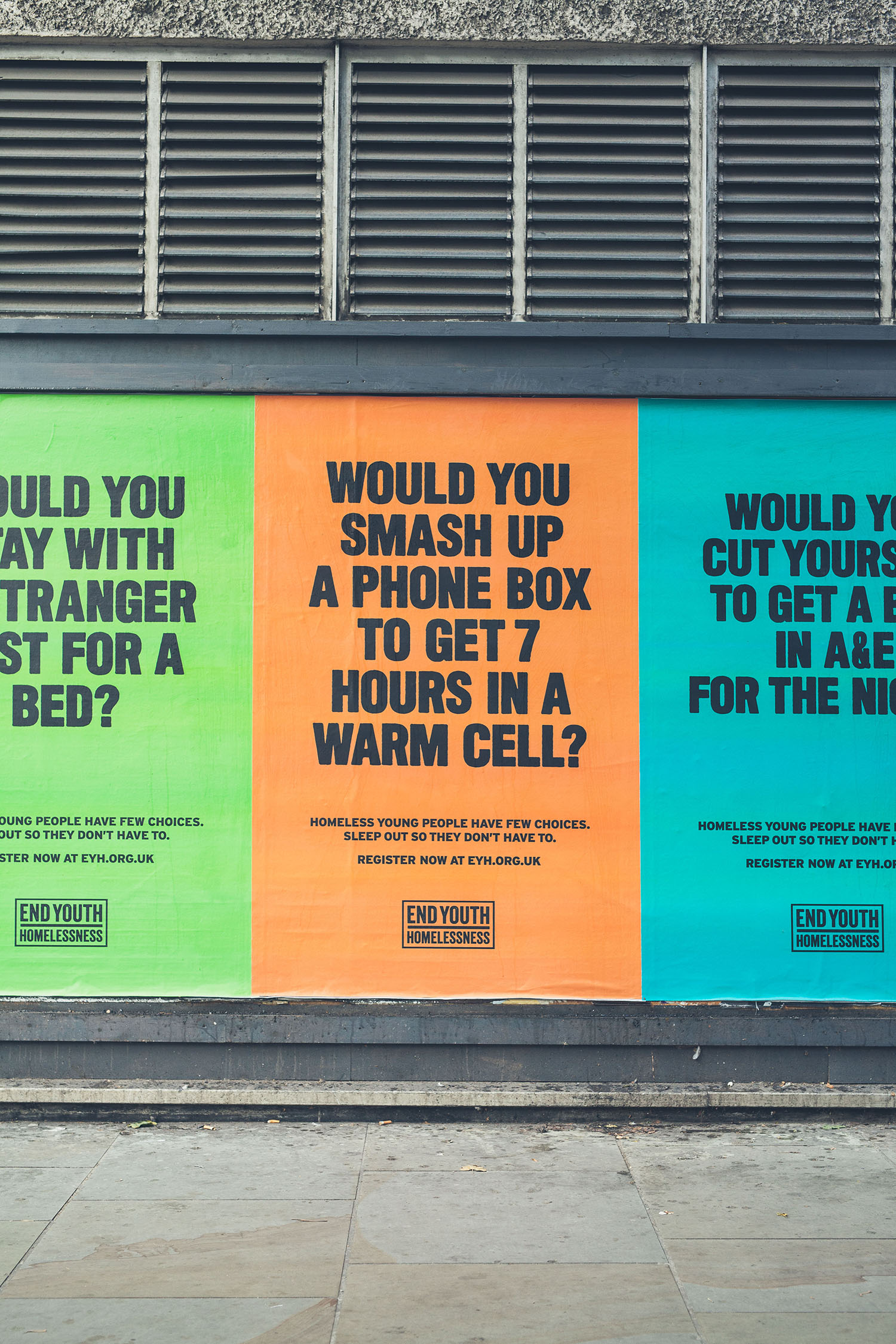 End Youth Homelessness launches hard-hitting poster campaign