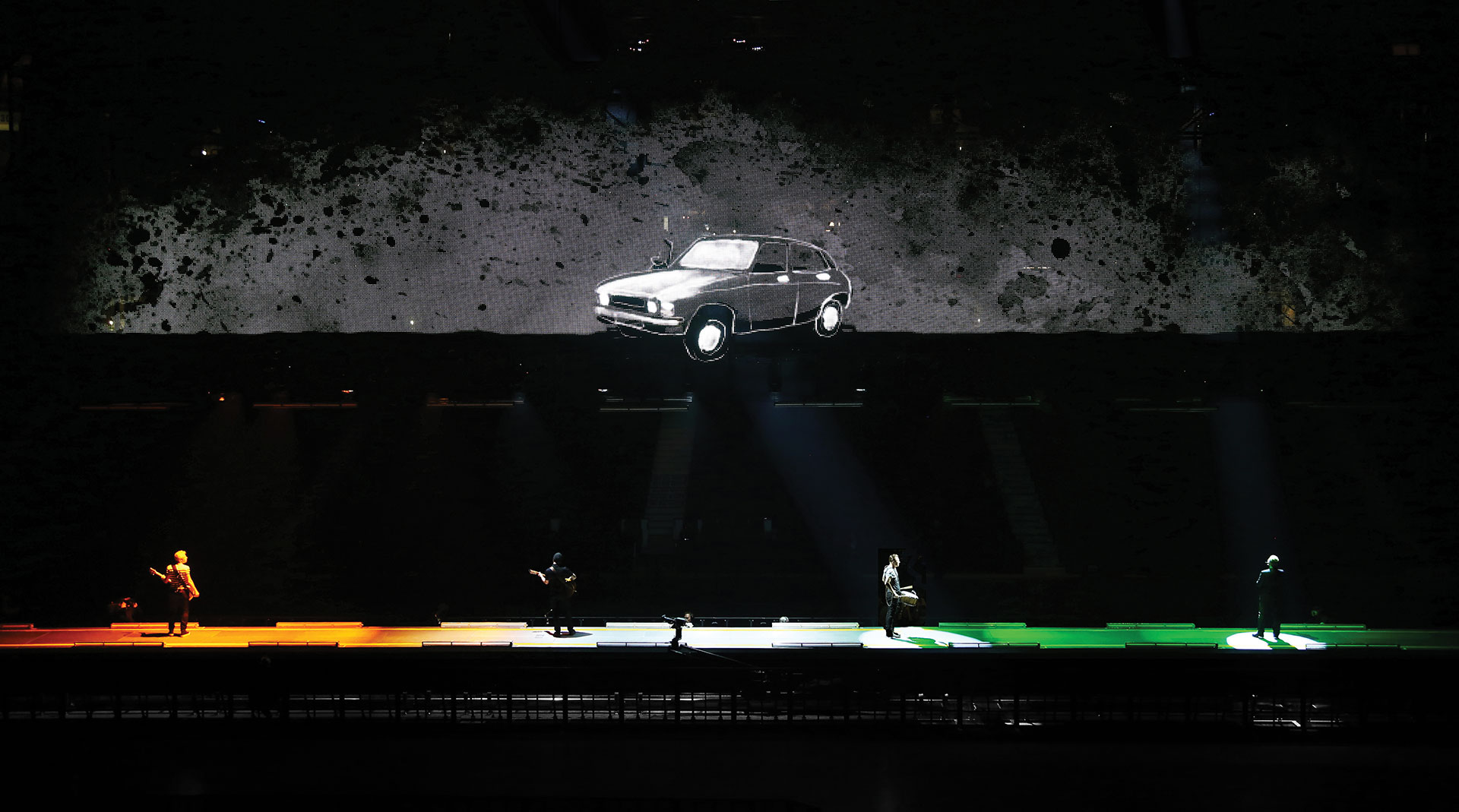 Tour visuals created by Oliver Jeffers for U2's Innocence + Experience tour in 2015