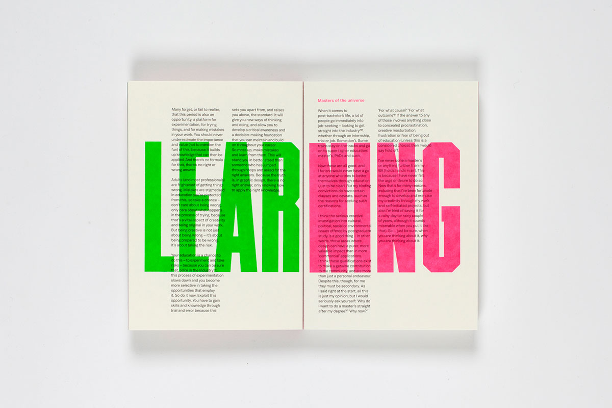 Advice for design students from Craig Oldham - Creative Review