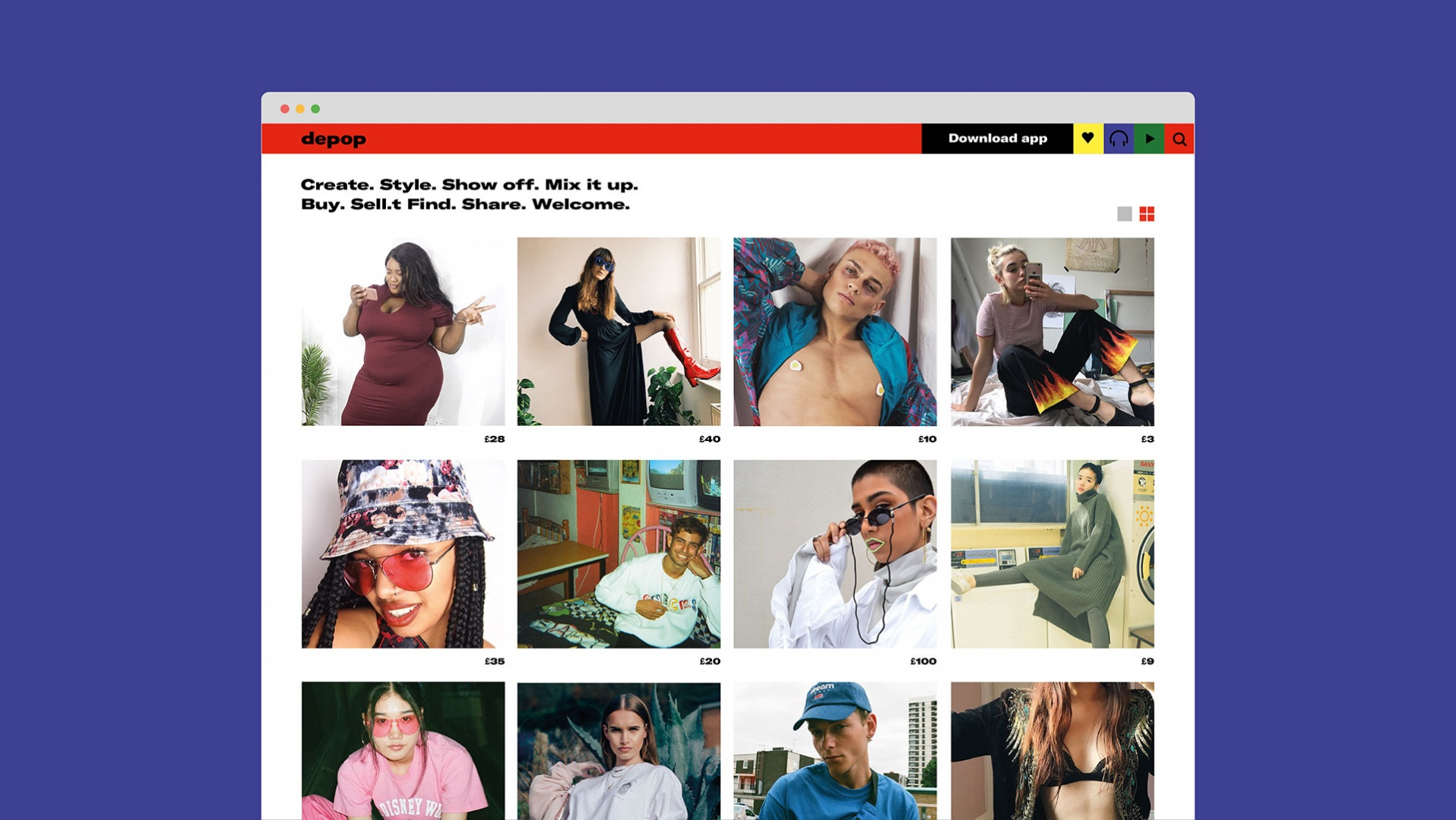 9d43be6738c Depop rebrand by DesignStudio - The Annual 2018