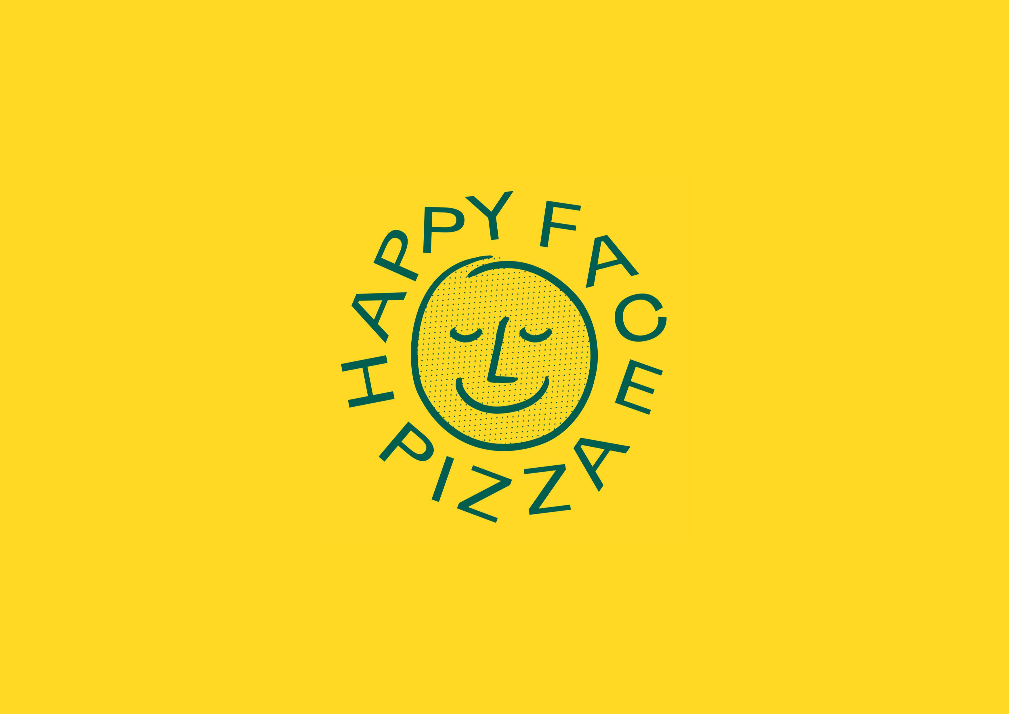 Pentagram's super smiley identity for Happy Face pizzeria