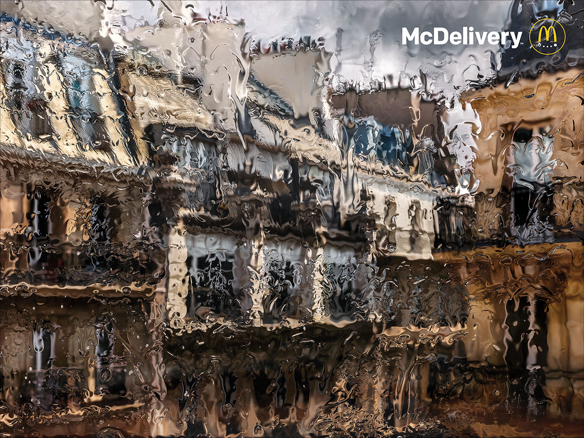 Your McDelivery won't be affected by the rain - Creative Review