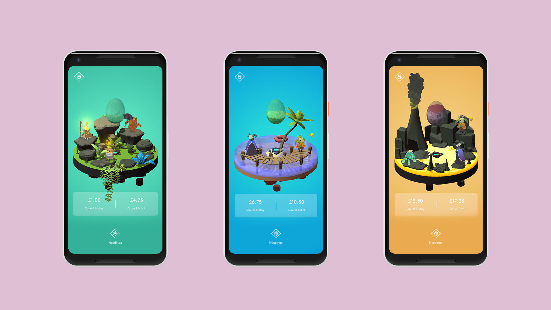Nestlings, a mobile game where cutesy characters help you