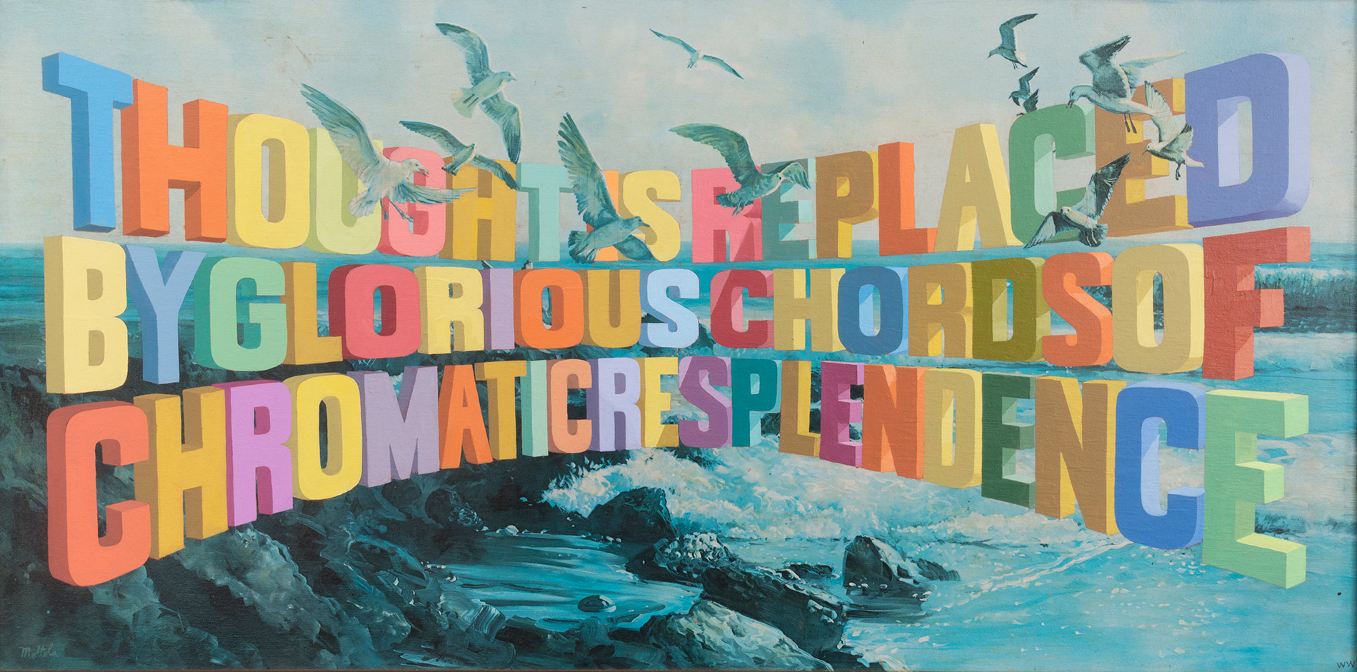 Wayne White reflects on 20 years of his word paintings
