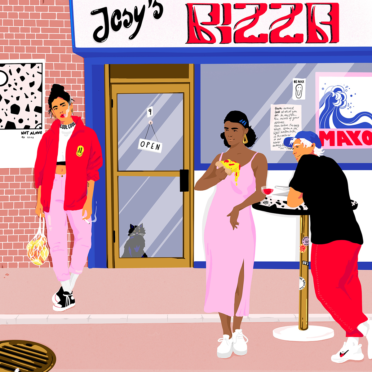 Josephine Rais' illustrations are a colourful take on everyday life