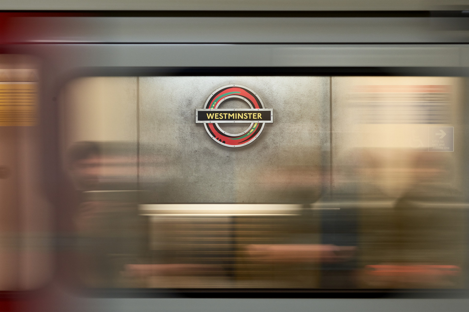 Westminster Tube roundel is reimagined by Larry Achiampong