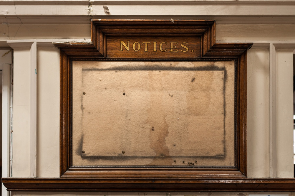 Andy Lord - Library Detail, Notice Board