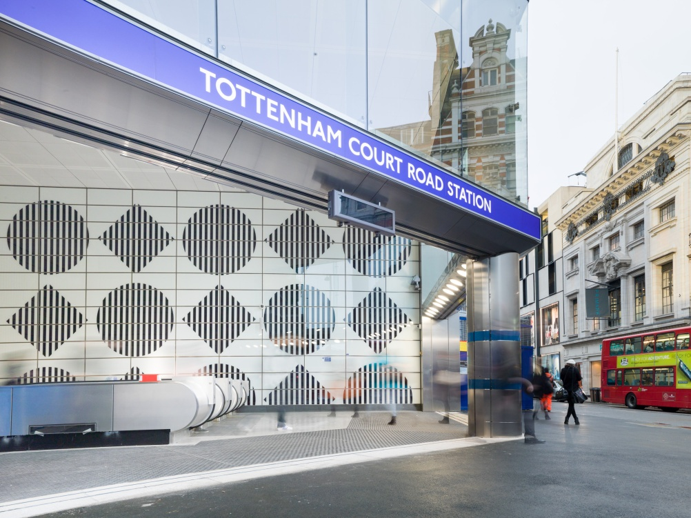 The new Oxford Street entrance for Tottenham Court Road Tube station, designed by Acanthus Architects