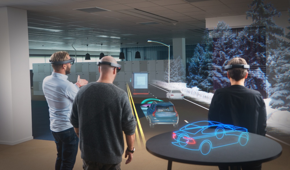 Microsoft HoloLens in use with Volvo Cars