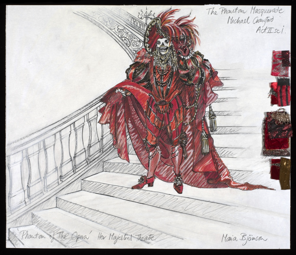 The Phantom of the Opera costume design, with permission of the Maria Bjornson Archive