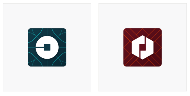 New rider and partner app icons